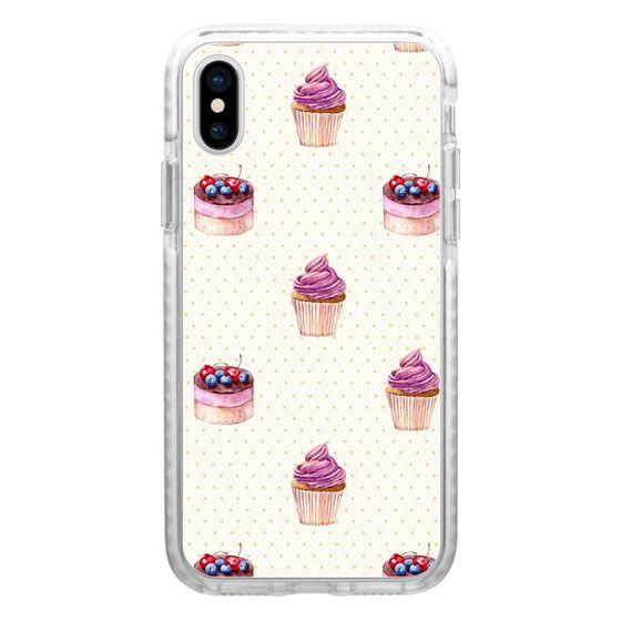 iPhone 6s Cases - Vintage lavender pink ivory polka dots cherries pie cupcakes pattern