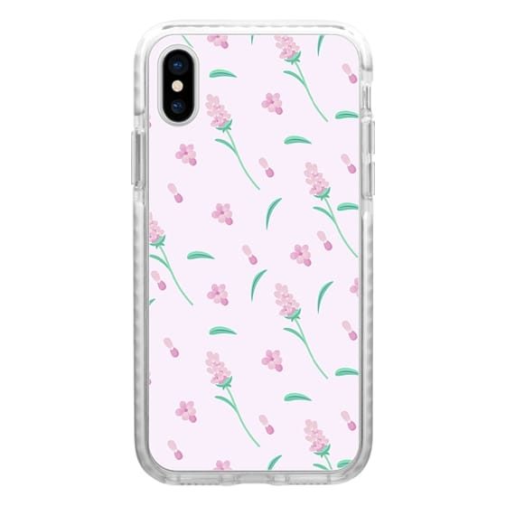 iPhone 7 Plus Cases - Modern blush pink coral green abstract floral illustration