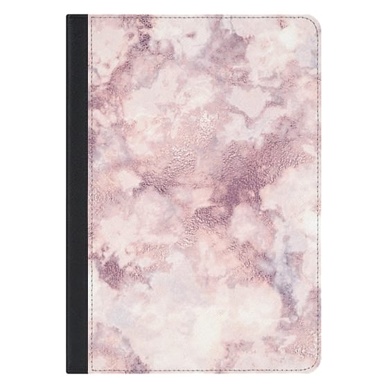 10.5-inch iPad Pro Covers - Elegant rose faux gold pink gray marble