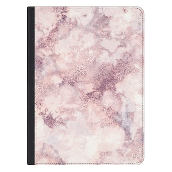 12.9-inch iPad Pro Covers - Elegant rose faux gold pink gray marble