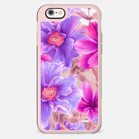 Elegant pink violet hand painted watercolor  tropical floral - New Standard Case