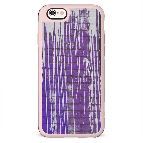 Modern abstract black violet white paint splatters pattern