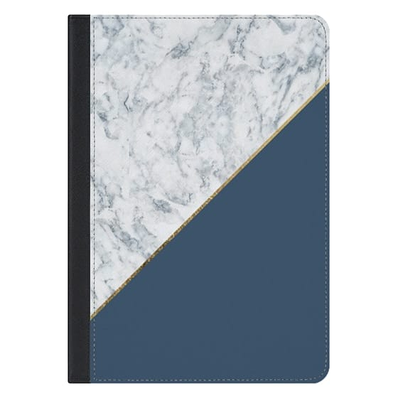 10.5-inch iPad Pro Covers - Elegant mauve blue white marble faux gold geometric
