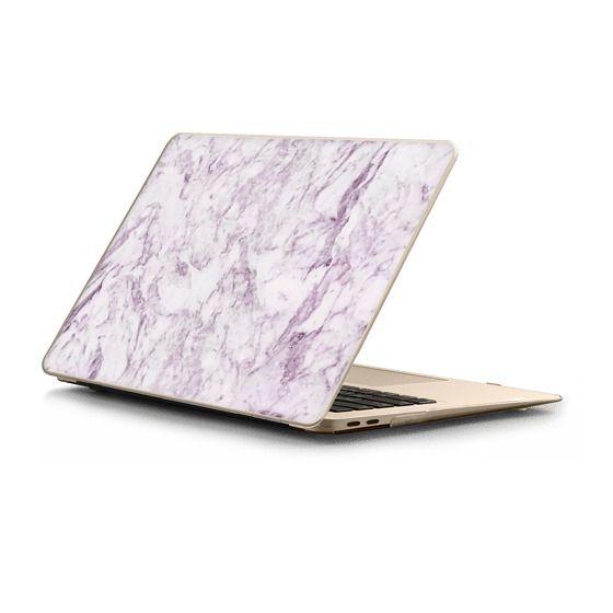 MacBook Air Retina 13 Sleeves - Elegant modern vintage white lilac violet marble