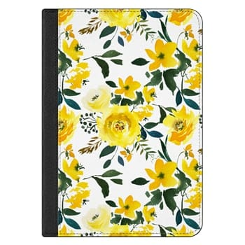 iPad Mini 4 Case - Hand painted modern yellow green watercolor floral