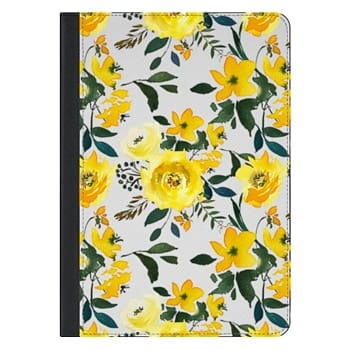 iPad Pro 10.5-inch Case - Hand painted modern yellow green watercolor floral