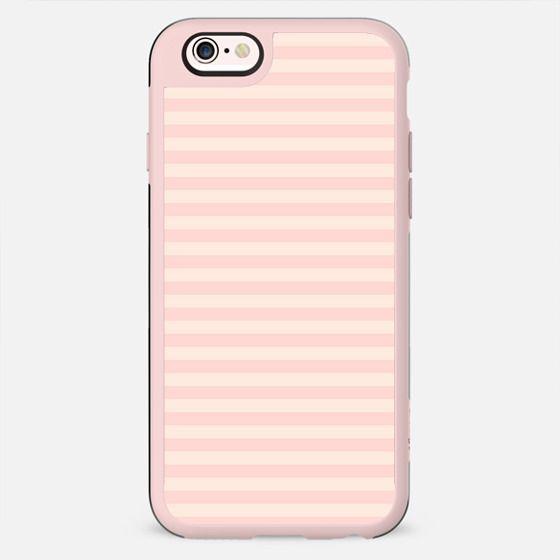 Shabby chic vintage white pink striped pattern - New Standard Case