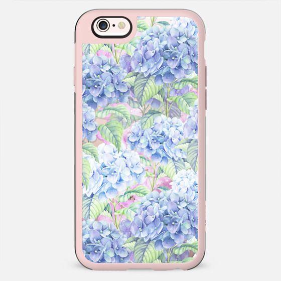 Botanical pink lavender watercolor hortensia floral - New Standard Case