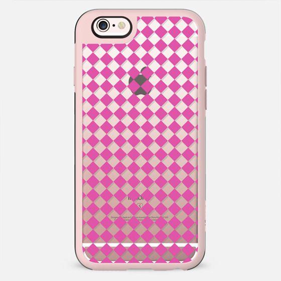 Geometric modern pink white diamonds pattern