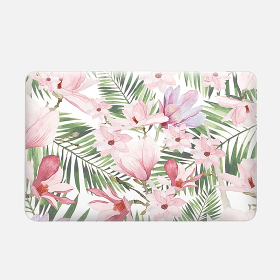 Macbook Air 11 Hülle - Blush pink lavender green watercolor tropical floral