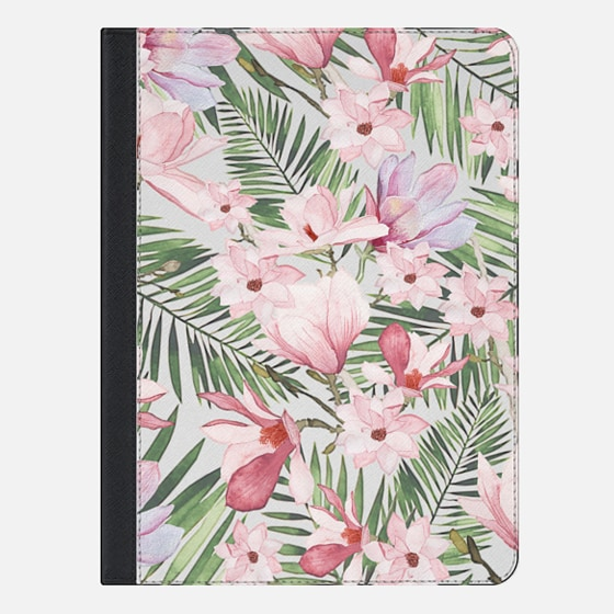 iPad Air 2 保護殼 - Blush pink lavender green watercolor tropical floral