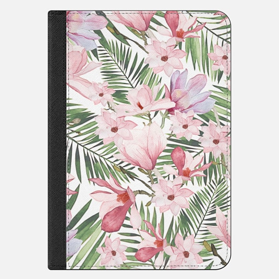 iPad Mini 4 เคส - Blush pink lavender green watercolor tropical floral