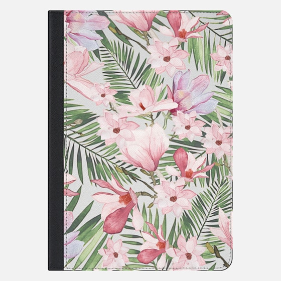 "iPad Pro 10.5"" Case - Blush pink lavender green watercolor tropical floral"
