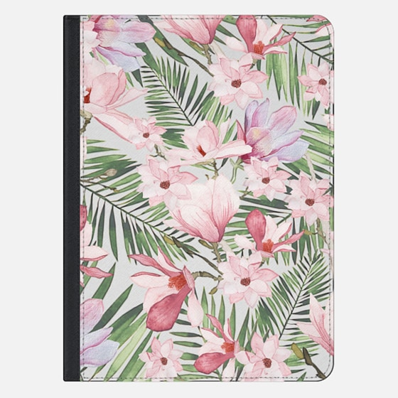 "iPad Pro 12.9"" Case - Blush pink lavender green watercolor tropical floral"