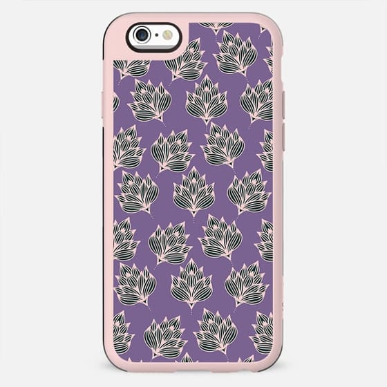 Hand painted blush pink violet modern floral - New Standard Case