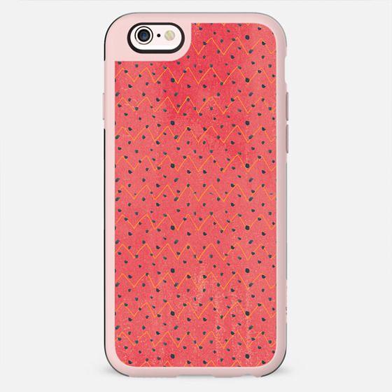 Modern black pink yellow watercolor chevron polka dots pattern