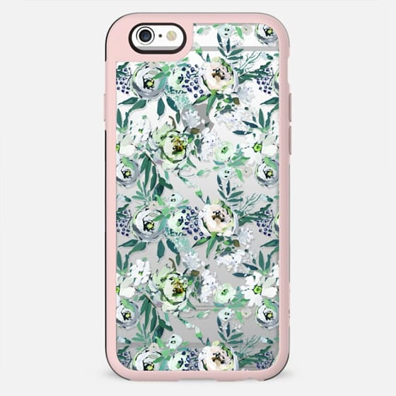 Country white green rustic watercolor floral - New Standard Case