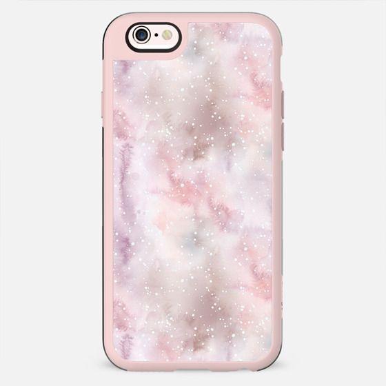 Mauve pink lilac white watercolor paint splatters - New Standard Case