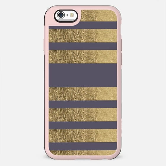 Elegant mauve purple faux gold stripes pattern - New Standard Case