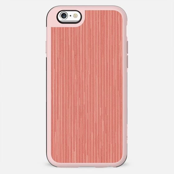 Abstract modern coral geometrical stripes - New Standard Case