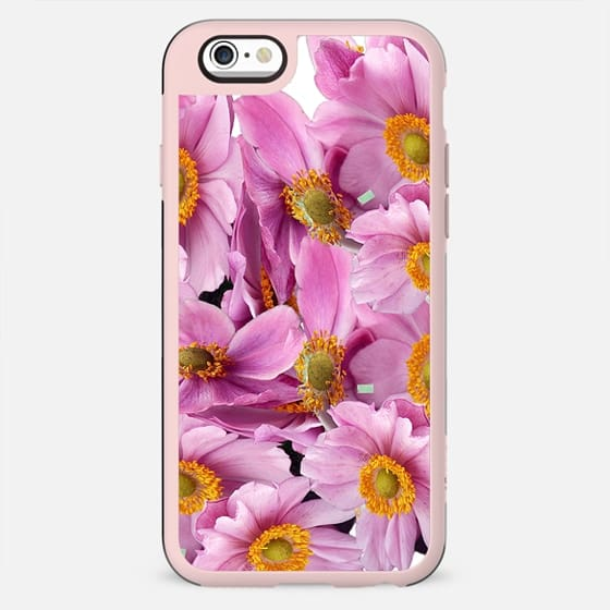 Blush pink yellow watercolor hand painted floral pattern - New Standard Case