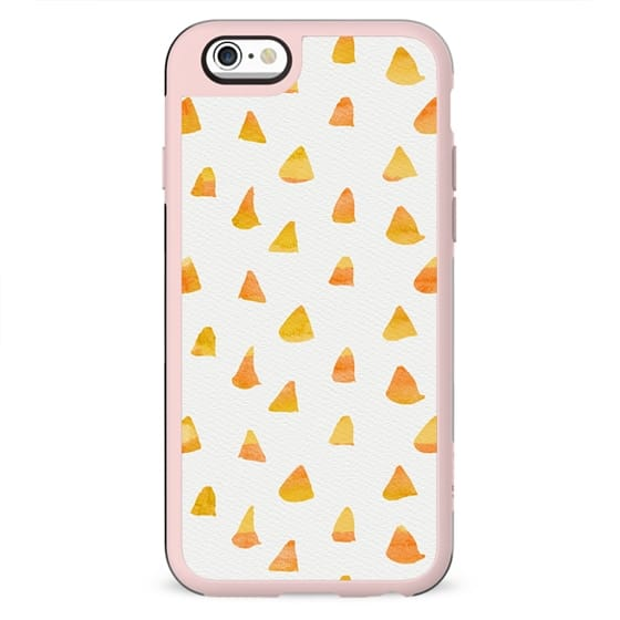 Geometrical orange yellow watercolor hand painted triangles