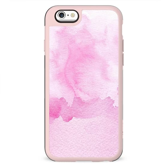 Blush pink white abstract watercolor paint