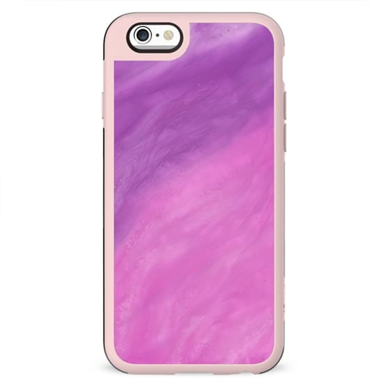 Abstract modern pink violet watercolor paint