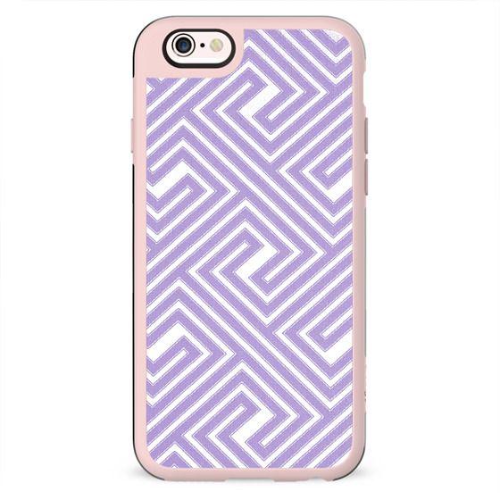 Abstract modern geometrical ultraviolet white key pattern