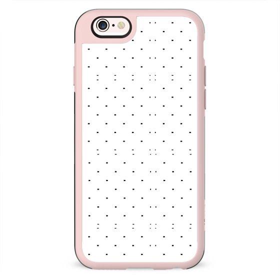 Black white geometrical polka dots modern pattern
