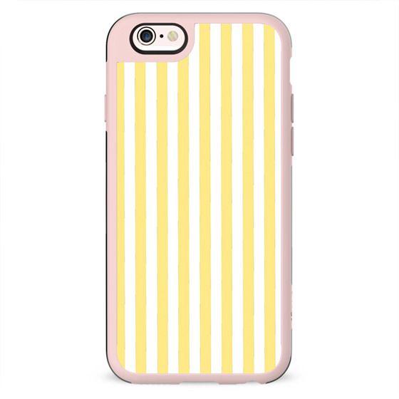 Modern geometrical yellow white stripes