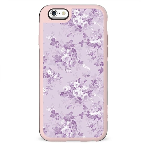 Elegant modern lavender lilac white floral