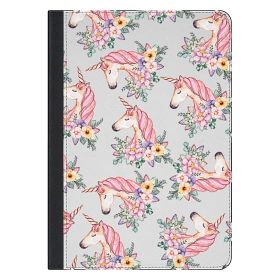 10.5-inch iPad Pro Covers - Pink lilac yellow green watercolor magical unicorn floral
