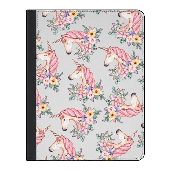 11-inch iPad Pro Covers - Pink lilac yellow green watercolor magical unicorn floral