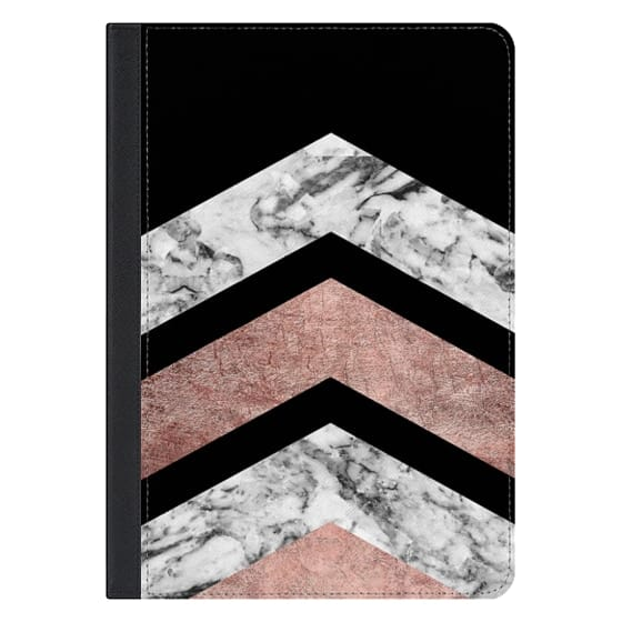 10.5-inch iPad Pro Covers - Modern rose gold black white geometric marble