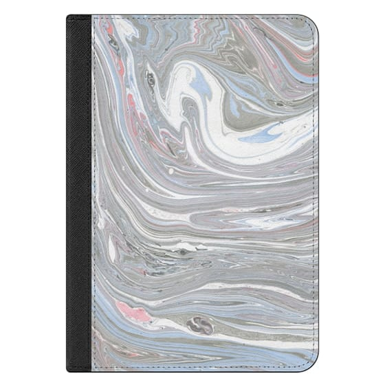 iPad Mini 4 Covers - Abstract pink blue gray watercolor marble pattern