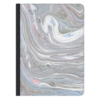 iPad Pro 12.9-inch Case - Abstract pink blue gray watercolor marble pattern