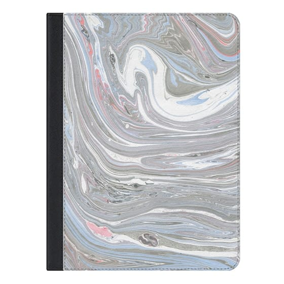 9.7-inch iPad Pro Covers - Abstract pink blue gray watercolor marble pattern
