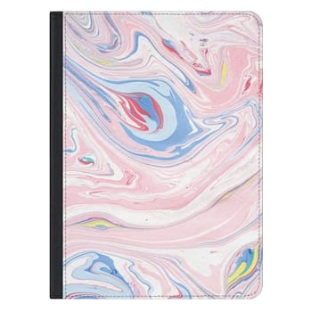 iPad Pro 12.9-inch Case - Elegant pastel pink white blue abstract watercolor marble
