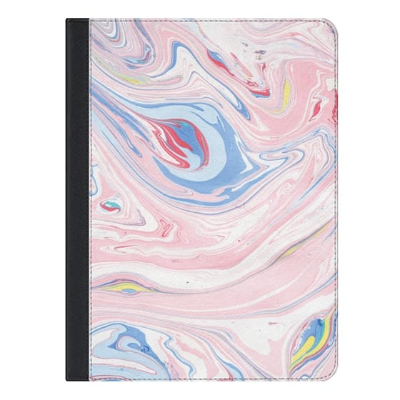 9.7-inch iPad Pro Covers - Elegant pastel pink white blue abstract watercolor marble