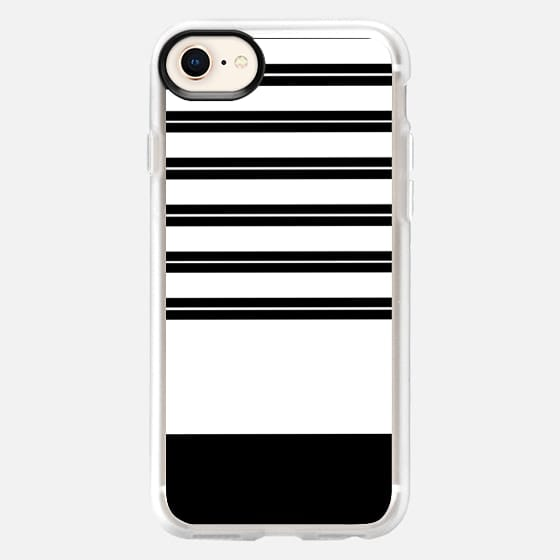 Modern cool black and white minimalist trendy striped pattern - Snap Case