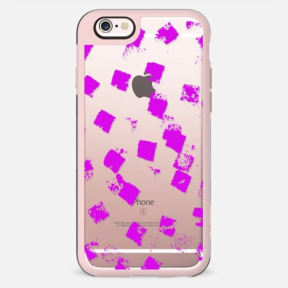 Modern abstract pink watercolor brushstrokes texture pattern - New Standard Case