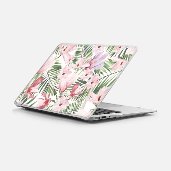 Macbook Air 11 케이스 - Blush pink lavender green watercolor tropical floral