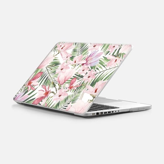 "Macbook Pro 13"" (2009 - 2012) Hülle - Blush pink lavender green watercolor tropical floral"