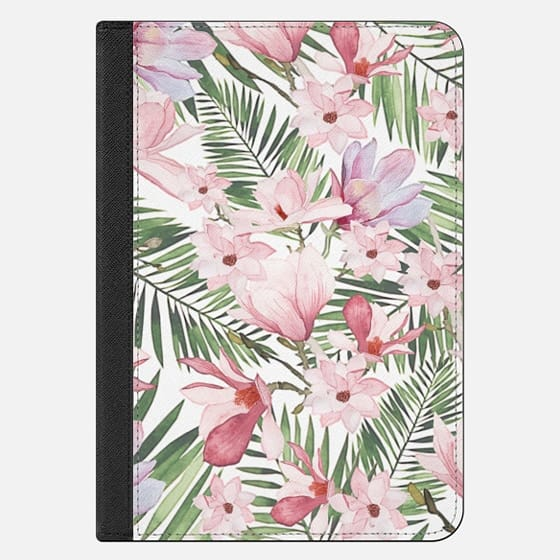 iPad Mini 4 保护壳 - Blush pink lavender green watercolor tropical floral