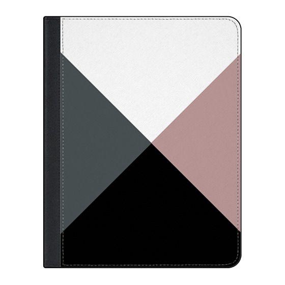 11-inch iPad Pro Covers - Modern dusty pink gray black white geometrical