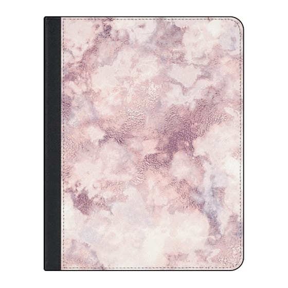 11-inch iPad Pro Covers - Elegant rose faux gold pink gray marble