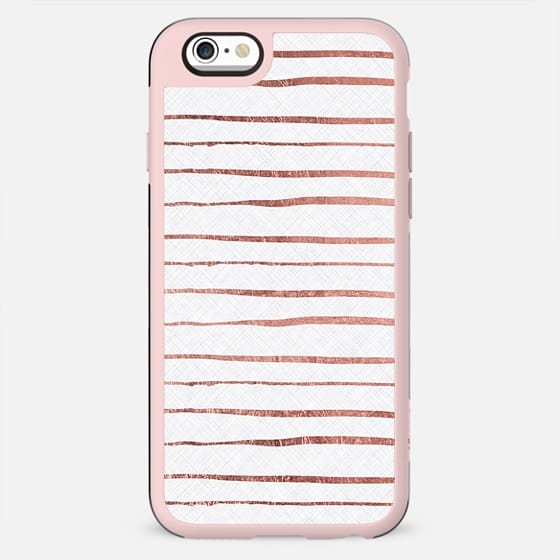 Chic white rose pink modern stripes pattern - New Standard Case