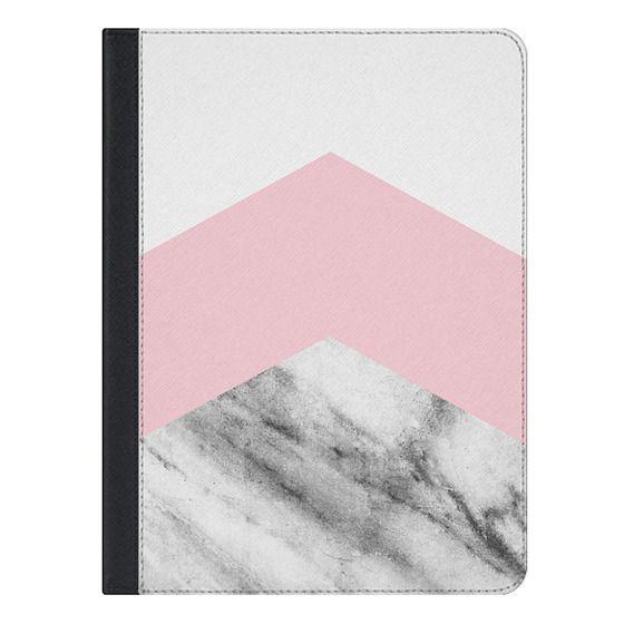 10.5-inch iPad Air (2019) Covers - Blush pink black white geometric vintage marble