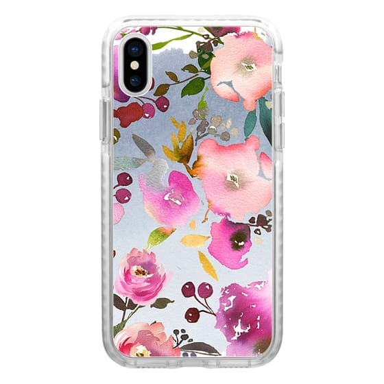 iPhone 6s Cases - Hand painted pink violet gray watercolor floral
